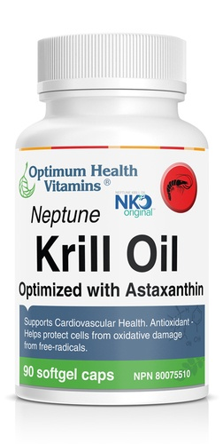 Neptune Krill Oil Optimized wtih Astaxanthin available in Canada