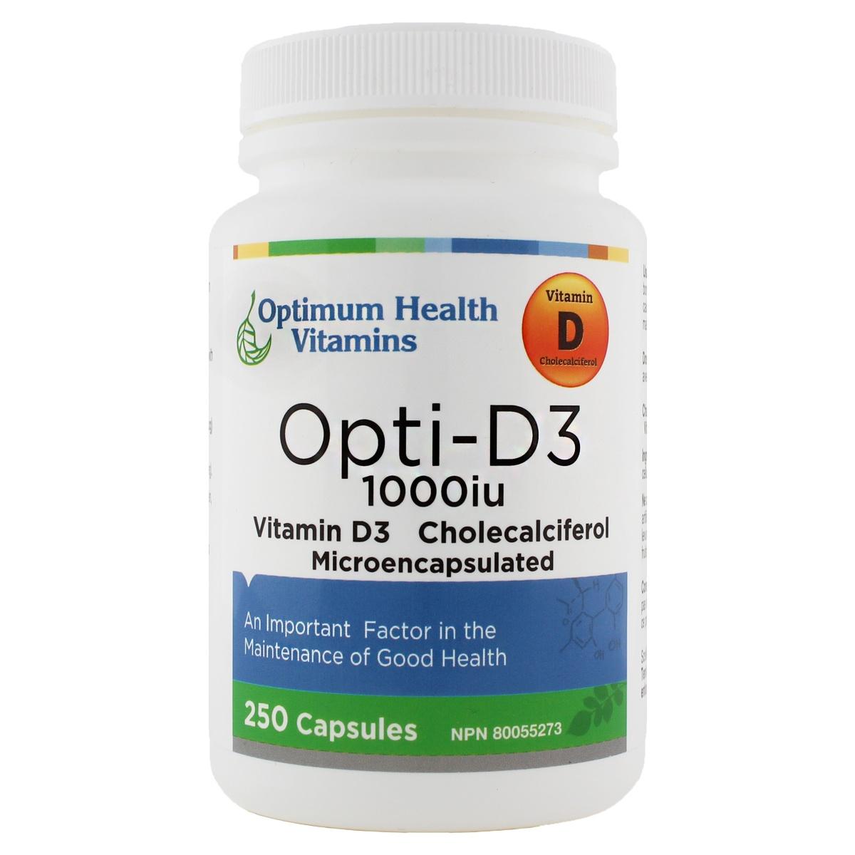 Optimum Health Vitamins Opti – D3 1000iu