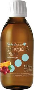 Nutravege 100% vegan algae oil omega-3 supplement.